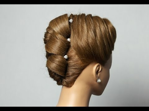 Hairstyle for long medium hair. Updo hairstyle