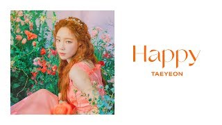 Gambar cover TAEYEON 태연 'Happy' Official Lyrics Eng