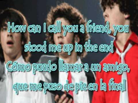 Jonas Brothers - 7:05 Lyrics English & Spanish(HD)