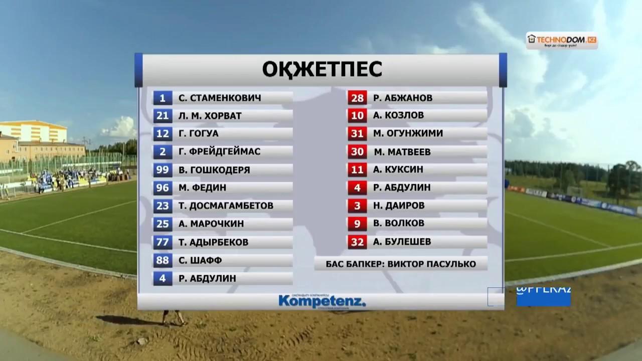 FK Okzhetpes vs FK Taraz 0-1 Highlights - Kazakhstan Premier League