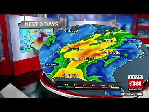 Hurricane Nate makes second landfall near Biloxi, Mississippi