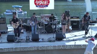 Autumn Blair at Live on the Levee performing an original song