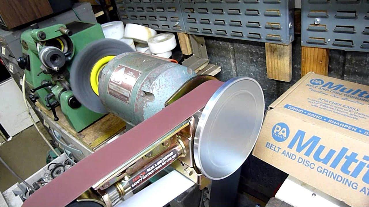 Grinder belt sander conversion kit