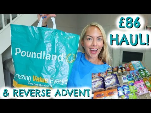MY BIGGEST POUNDLAND HAUL EVER! & REVERSE ADVENT CALENDAR