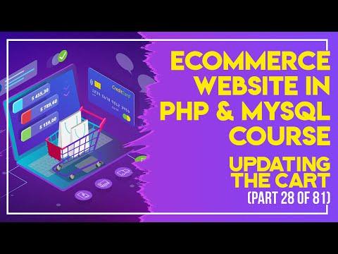 E-Commerce website in PHP & MySQL in Urdu/Hindi part 28 updating the cart