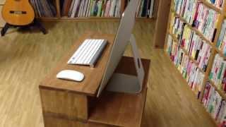 高くて見づらいiMacの画面が見やすくなる机(ラック)を自作!これで長時間の作業もラクラク! thumbnail