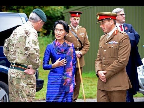 Aung San Suu Kyi Visits Sandhurst