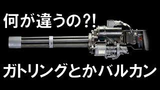 【実銃解説】ガトリングとバルカンとミニガンの違い【NHG】