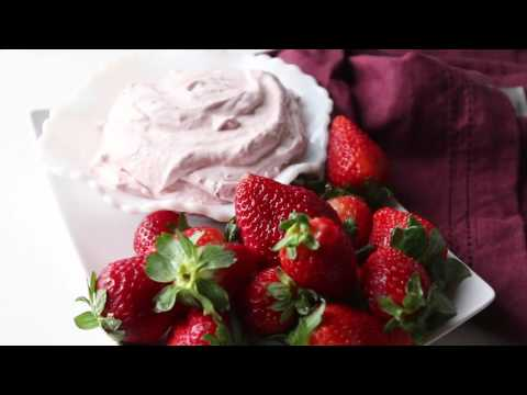 strawberry fluff fruit dip