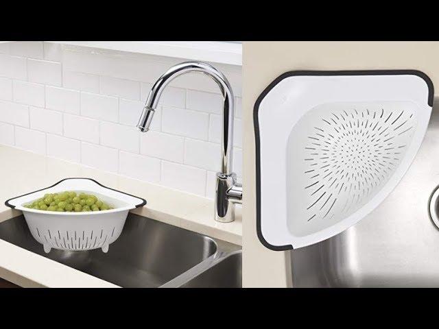 oxo corner colander kitchen sink