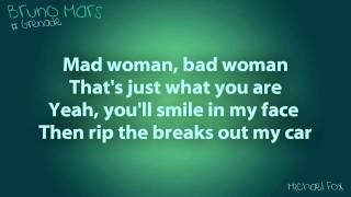 Bruno Mars - Grenade (Acoustic) [Lyrics on Screen] M