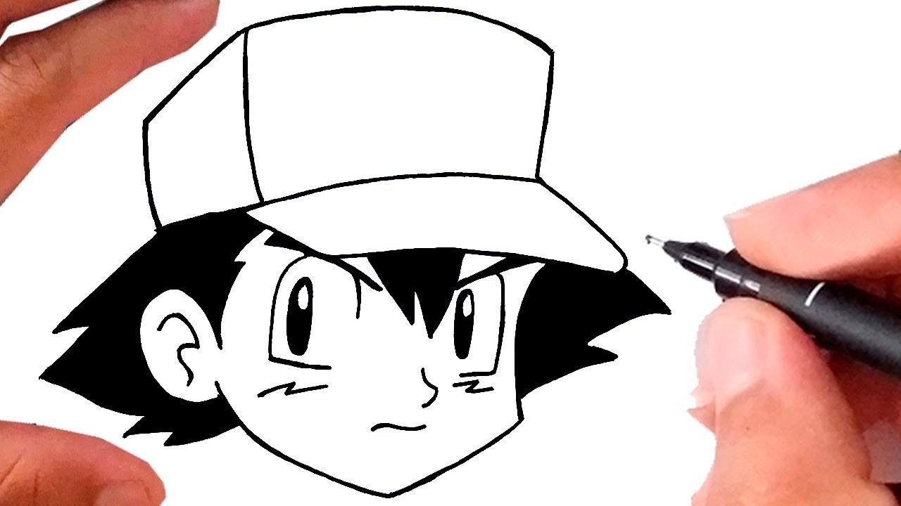 Como Desenhar O Ash Pokemon Super Facil Youtube