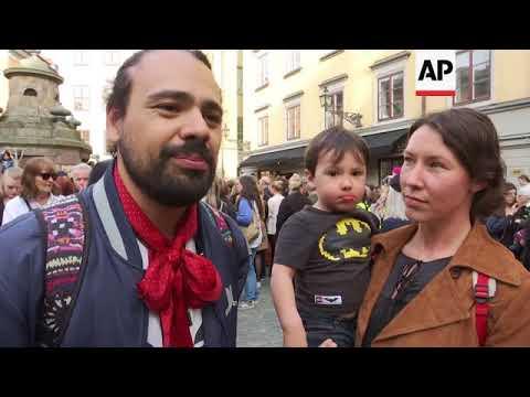 Protest against ousting of female leader of Nobel Prize for Literature