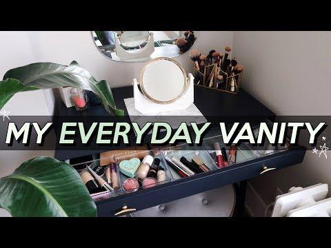 ORGANIZING MY MAKEUP IN MY VANITY! | Tour & Setup | Jamie Paige