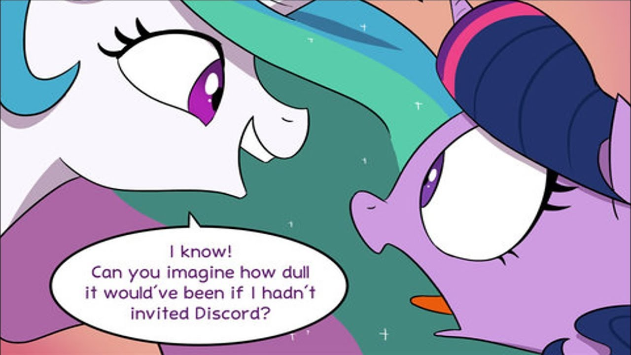 Discord Celestia Comic [mlp comic dub] make new friends but keep discord (comedy)