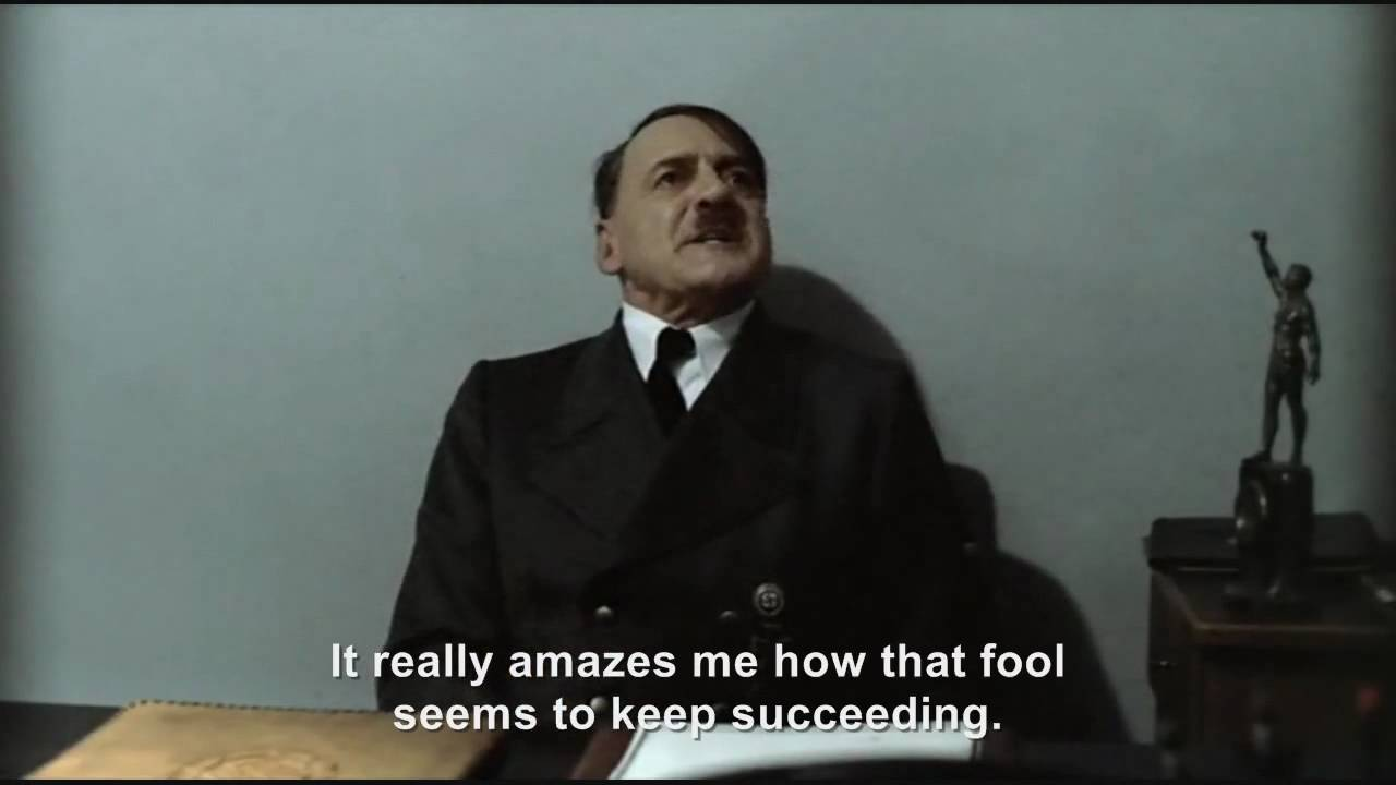 Hitler is informed hitlerrantsparodies has 10000 Subscribers