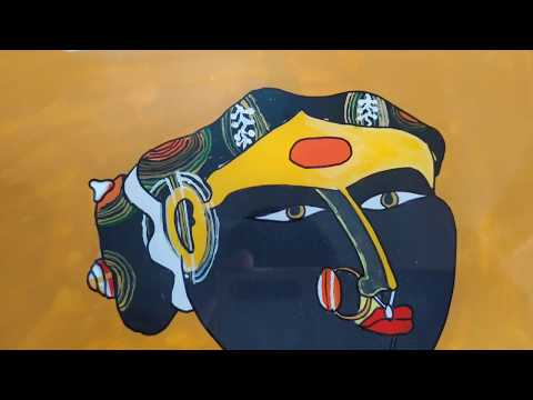 Traditional Reverse Glass painting | painting on glass | Fine arts painting