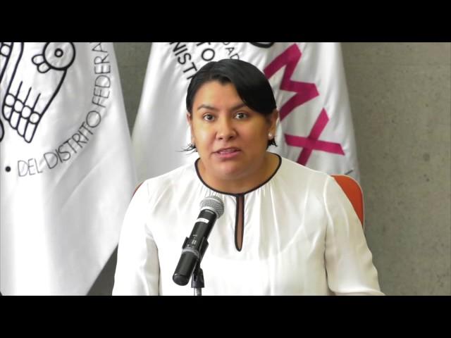 Discurso de la Dra. Perla Gómez en la firma de convenio CDHDF - INVEA
