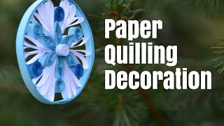 Paper Quilling Decoration for Christmas Tree