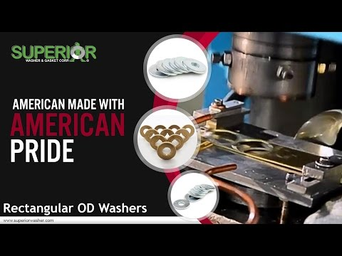 Rectangular OD Washers From Superior Washer & Gasket Corp.