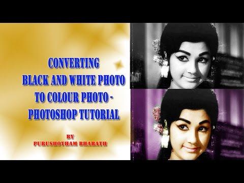 Photoshop tutorial in telugu black white photo converting for Convert photo to coloring page photoshop
