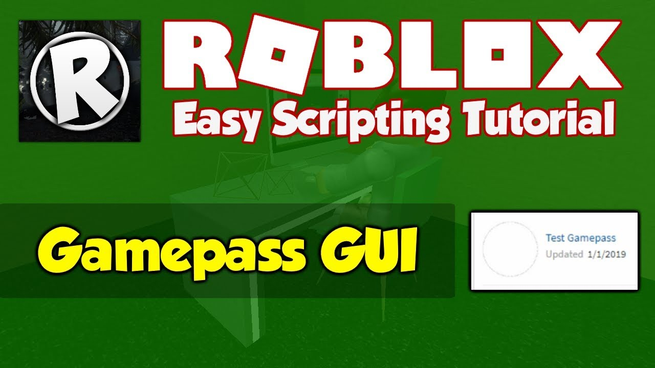 Roblox How To Make A Gamepass Gui Script 2019 Fe Youtube