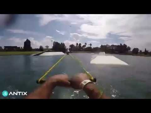 Laps at Cables Wake Park in Australia