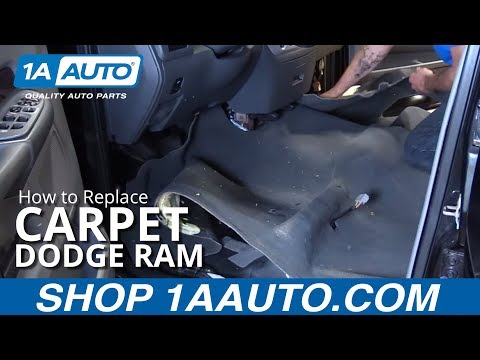 How to Install Replace Carpet Quad Cab 2003-08 Dodge Ram 1500 BUY QUALITY AUTO PARTS AT 1AAUTO.COM