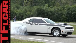The Burnout Machine: New Supercharged Dodge Challenger MOPAR Drag Pack Revealed