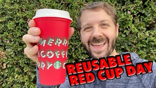 Starbucks Reusable Red Cup Day!