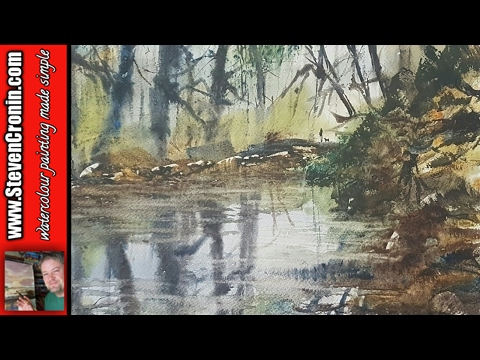 Sutton Park watercolour painting from a photograph | New brush