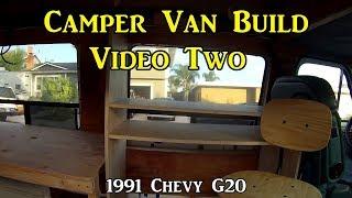 Adventure Van Build Two - Flooring & Building Desk Using Kreg Pocket Ho