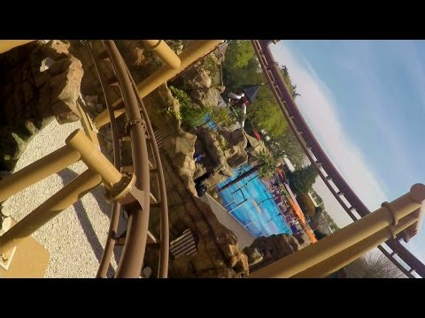Flight of the Pterosaur front seat on-ride HD POV Paultons Park