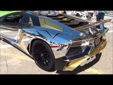 2016 Lamborghini Aventador Sv Chrome Chrome Gold Wrap