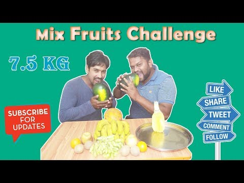 FRUIT NINJA OF INDIA | Fruits Eating Challenge | Food Challenge India|Mix Fruit Challenge
