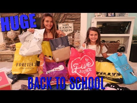 OUR BIGGEST BACK TO SCHOOL MALL SHOPPING HAUL 2018! COME SHOP WITH ME!