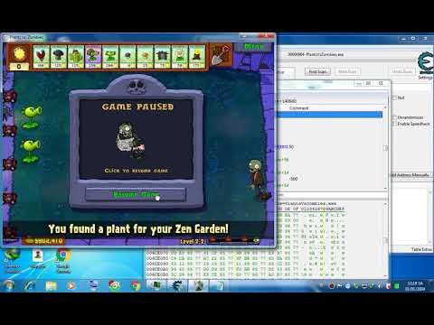 hack plants vs zombies bằng cheat engine - Hack plants vs zombies (full mặt trời+time hồi cây+bất tử+one hit) phần 2