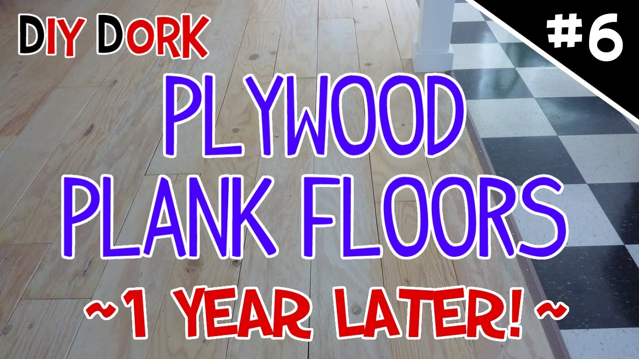 DIY Low Budget Plywood Plank Floors