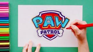 How to draw Paw Patrol Logo