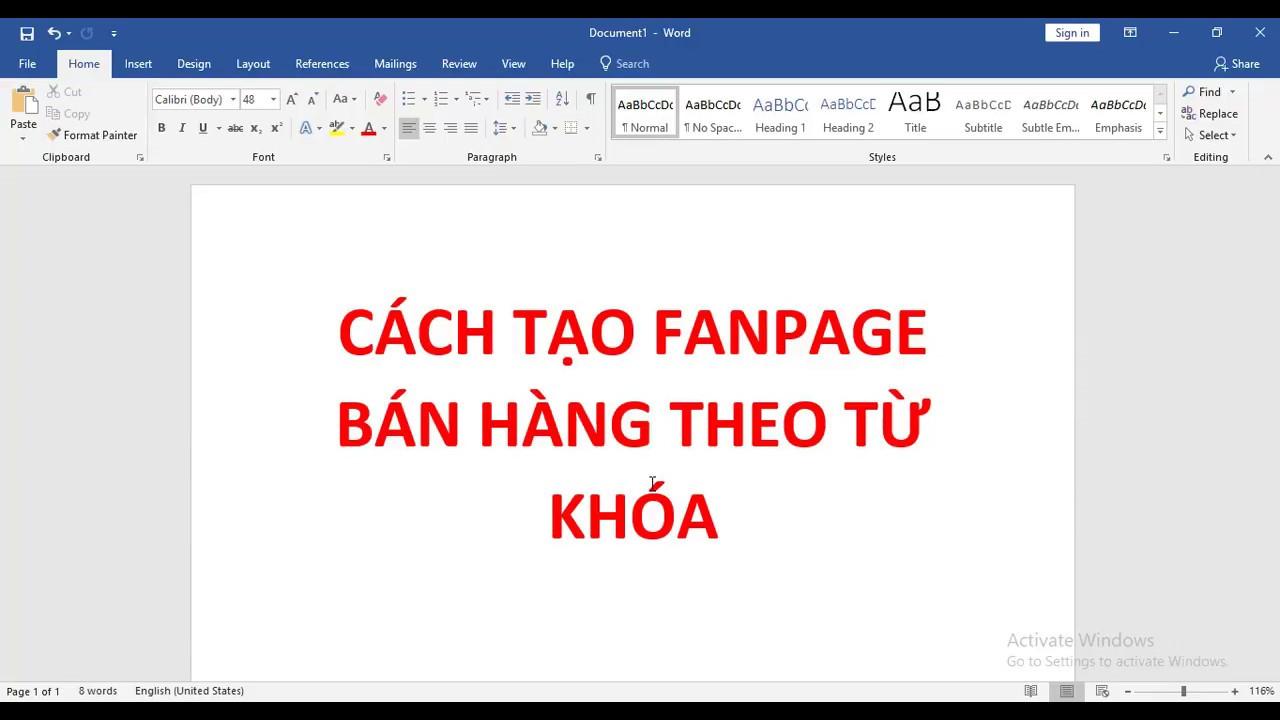 Kiến Thức Facebook Marketing ( Phần 1 ) Tạo Fanpage theo từ khóa