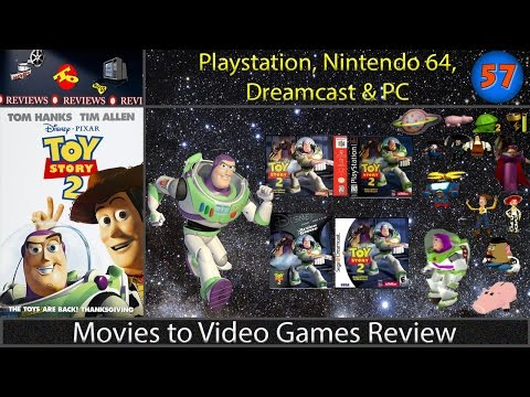 Movies to Video Games Review -- Toy Story 2 : Buzz Lightyear to the Rescue (PS1, DC, N64, PC)