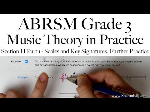 ABRSM Grade 3 Music Theory Section H Part 1 Scales and Key Signatures, Further Practice with Sharon