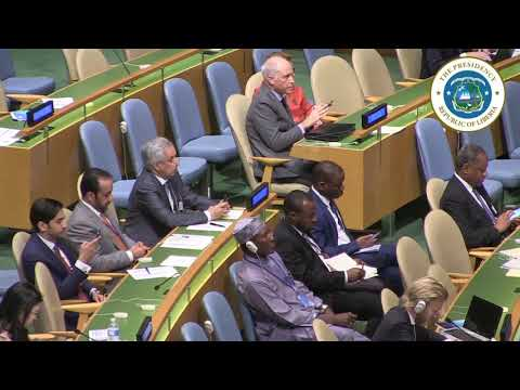 President Weah Addresses the Nelson Mandela Peace Summit at the UN General Assembly
