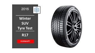 TOP 10 Best SUV winter tyres R17 2016