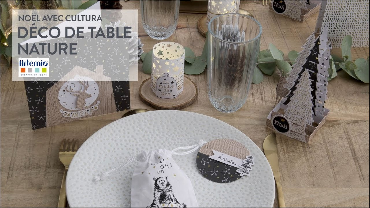 tuto diy d co de table nature no l hygge youtube. Black Bedroom Furniture Sets. Home Design Ideas