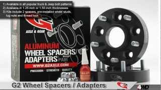 g2 wheel spacers adapters