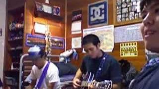 Mark Sanchez singin Meg & Dia's Cardigan Weather [cover]