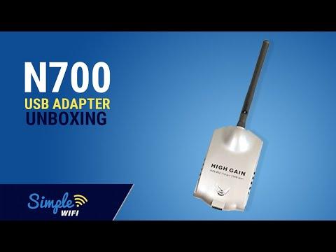 Simple WiFi N700 USB Adapter 802.11b/g/n Box Opening