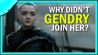 Why didn't Gendry sail West of Westeros with Arya?