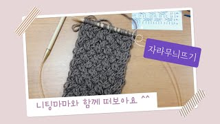 꽈배기바늘 없이 자라무늬 목도리 뜨기(아메리칸&…